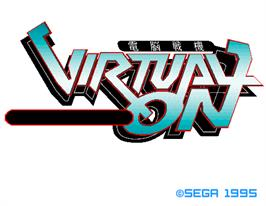 Title screen of Virtual On Cyber Troopers on the Arcade.