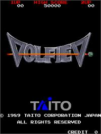 Title screen of Volfied on the Arcade.