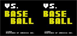 Title screen of Vs. BaseBall on the Arcade.