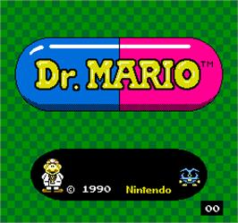 Title screen of Vs. Dr. Mario on the Arcade.