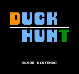 Title screen of Vs. Duck Hunt on the Arcade.
