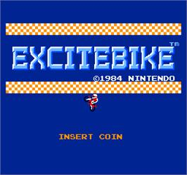 Title screen of Vs. Excitebike on the Arcade.