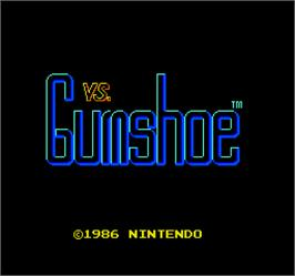 Title screen of Vs. Gumshoe on the Arcade.