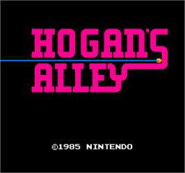 Title screen of Vs. Hogan's Alley on the Arcade.