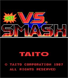 Title screen of Vs. Hot Smash on the Arcade.