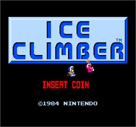 Title screen of Vs. Ice Climber on the Arcade.