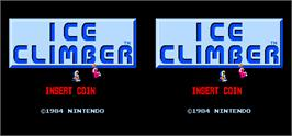 Title screen of Vs. Ice Climber Dual on the Arcade.