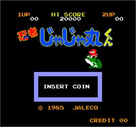 Title screen of Vs. Ninja Jajamaru Kun on the Arcade.