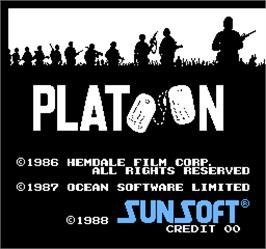 Title screen of Vs. Platoon on the Arcade.