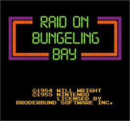 Title screen of Vs. Raid on Bungeling Bay on the Arcade.