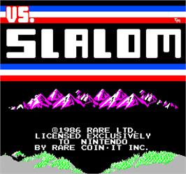 Title screen of Vs. Slalom on the Arcade.