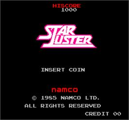 Title screen of Vs. Star Luster on the Arcade.