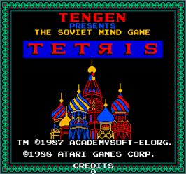 Title screen of Vs. Tetris on the Arcade.