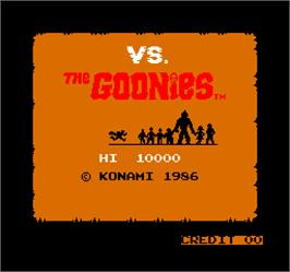 Title screen of Vs. The Goonies on the Arcade.