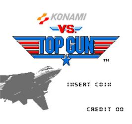 Title screen of Vs. Top Gun on the Arcade.