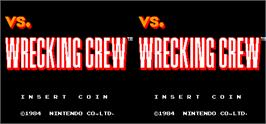 Title screen of Vs. Wrecking Crew on the Arcade.