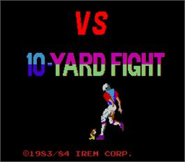 Title screen of Vs 10-Yard Fight on the Arcade.