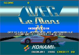 Title screen of WEC Le Mans 24 on the Arcade.