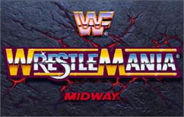 Title screen of WWF: Wrestlemania on the Arcade.