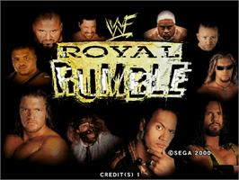 Title screen of WWF Royal Rumble on the Arcade.