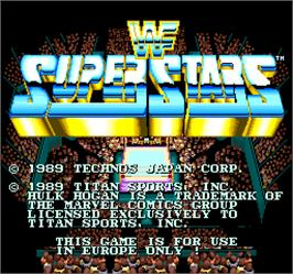 Title screen of WWF Superstars on the Arcade.