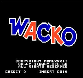 Title screen of Wacko on the Arcade.
