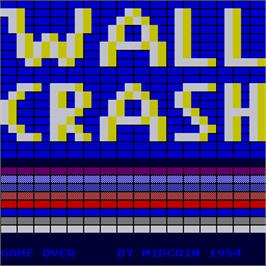 Title screen of Wall Crash on the Arcade.