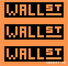 Title screen of Wall Street on the Arcade.