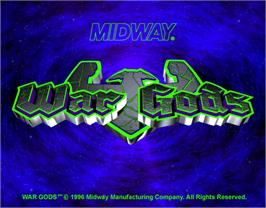 Title screen of War Gods on the Arcade.