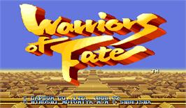 Title screen of Warriors of Fate on the Arcade.