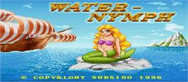 Title screen of Water-Nymph on the Arcade.
