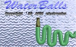 Title screen of Water Balls on the Arcade.