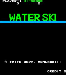 Title screen of Water Ski on the Arcade.