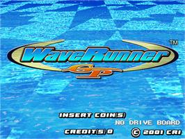 Title screen of Wave Runner GP on the Arcade.
