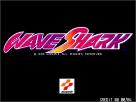 Title screen of Wave Shark on the Arcade.