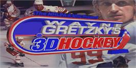 Title screen of Wayne Gretzky's 3D Hockey on the Arcade.