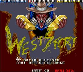 Title screen of West Story on the Arcade.