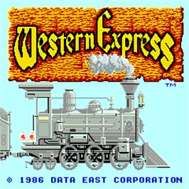 Title screen of Western Express on the Arcade.