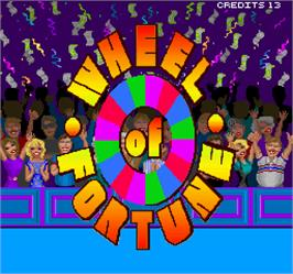 Title screen of Wheel Of Fortune on the Arcade.
