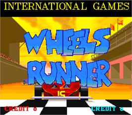 Title screen of Wheels Runner on the Arcade.