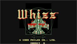 Title screen of Whizz on the Arcade.