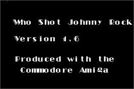 Title screen of Who Shot Johnny Rock? v1.6 on the Arcade.