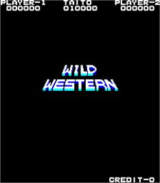 Title screen of Wild Western on the Arcade.