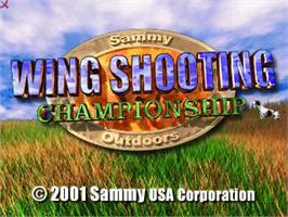 Title screen of Wing Shooting Championship V1.01 on the Arcade.