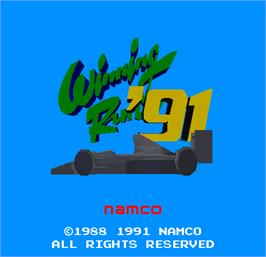 Title screen of Winning Run 91 on the Arcade.
