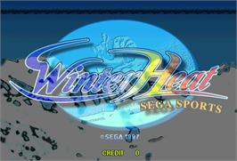 Title screen of Winter Heat on the Arcade.