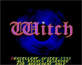 Title screen of Witch on the Arcade.