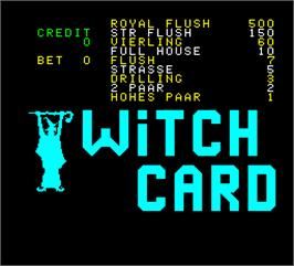 Title screen of Witch Card on the Arcade.