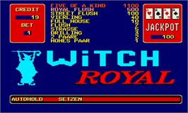 Title screen of Witch Royal on the Arcade.