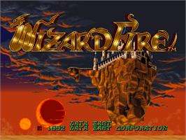 Title screen of Wizard Fire on the Arcade.